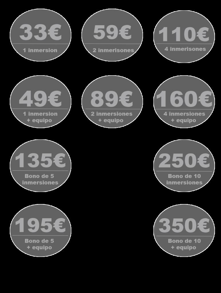 precios de buceo